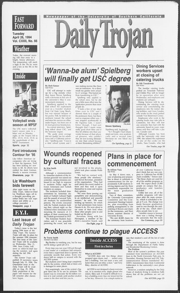 Daily Trojan, Vol. 122, No. 66, April 26, 1994