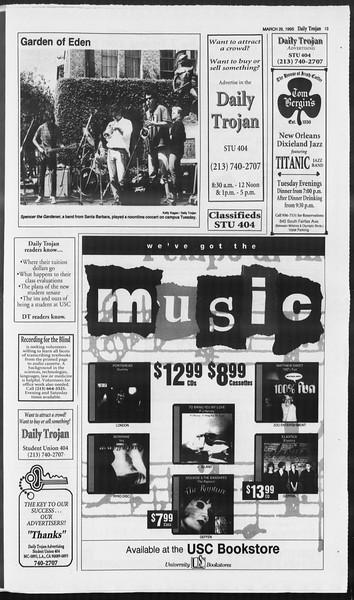 Daily Trojan, Vol. 124, No. 45, March 29, 1995