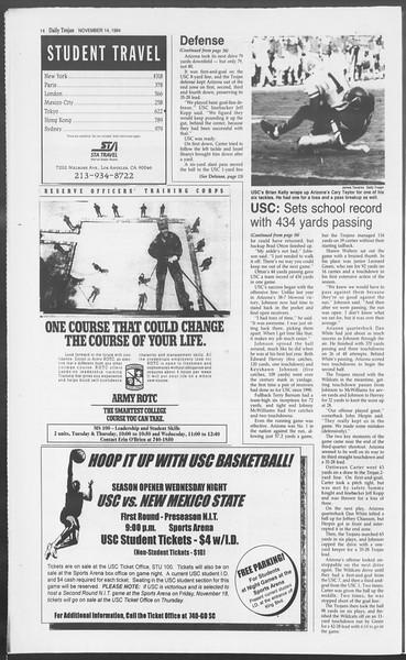 Daily Trojan, Vol. 123, No. 52, November 14, 1994