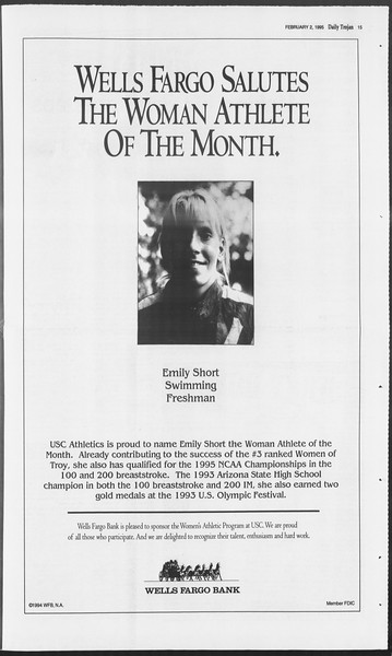 Daily Trojan, Vol. 124, No. 14, February 02, 1995