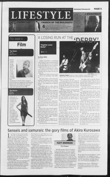 Daily Trojan, Vol. 160, No. 7, January 19, 2007