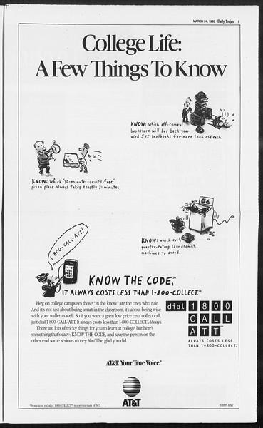 Daily Trojan, Vol. 124, No. 42, March 24, 1995