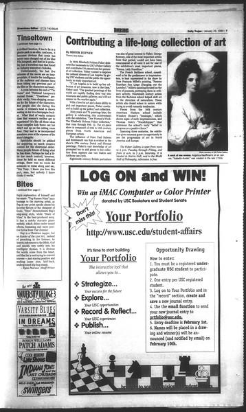 Daily Trojan, Vol. 136, No. 10, January 29, 1999