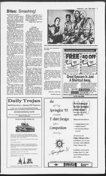 Daily Trojan, Vol. 124, No. 13, February 01, 1995