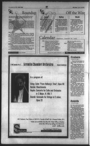 Daily Trojan, Vol. 136, No. 9, January 28, 1999