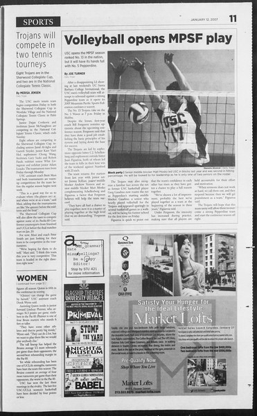 Daily Trojan, Vol. 160, No. 4, January 12, 2007