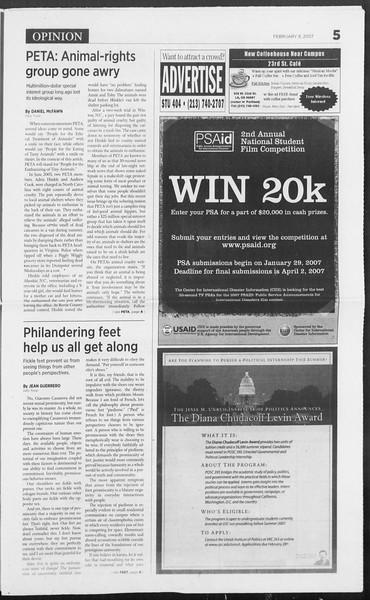 Daily Trojan, Vol. 160, No. 21, February 08, 2007