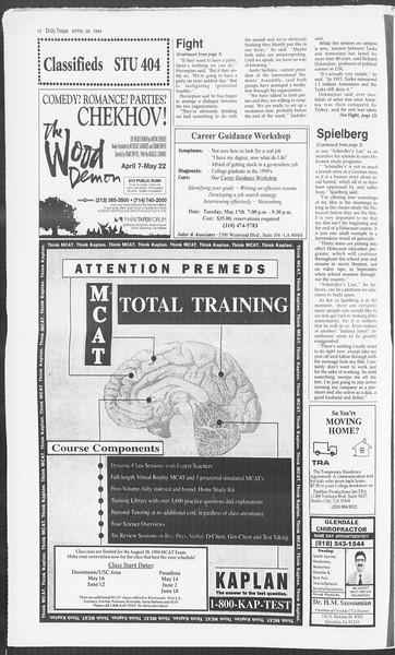 Daily Trojan, Vol. 122, No. 66, April 26, 1994