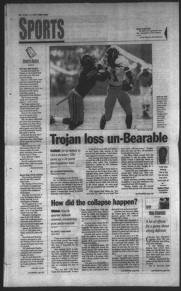 Daily Trojan, Vol. 135, No. 27, October 12, 1998