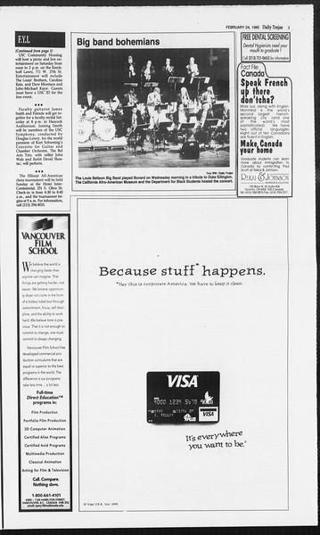 Daily Trojan, Vol. 124, No. 28, February 24, 1995