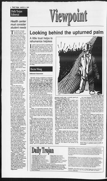 Daily Trojan, Vol. 124, No. 32, March 02, 1995