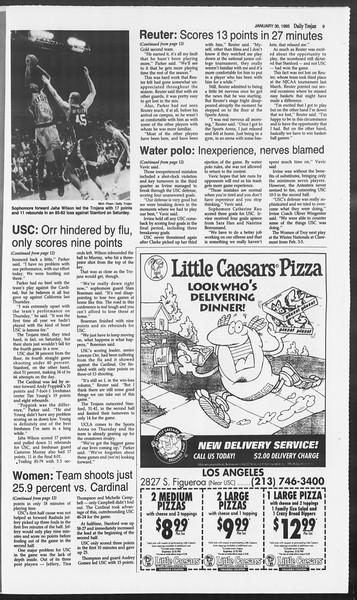 Daily Trojan, Vol. 124, No. 11, January 30, 1995