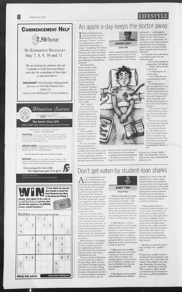 Daily Trojan, Vol. 160, No. 41, March 21, 2007