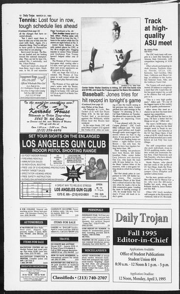 Daily Trojan, Vol. 124, No. 47, March 31, 1995