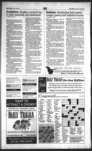 Daily Trojan, Vol. 136, No. 17, February 09, 1999