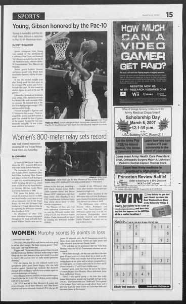 Daily Trojan, Vol. 160, No. 37, March 06, 2007