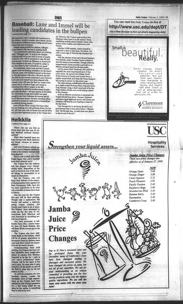 Daily Trojan, Vol. 136, No. 12, February 02, 1999