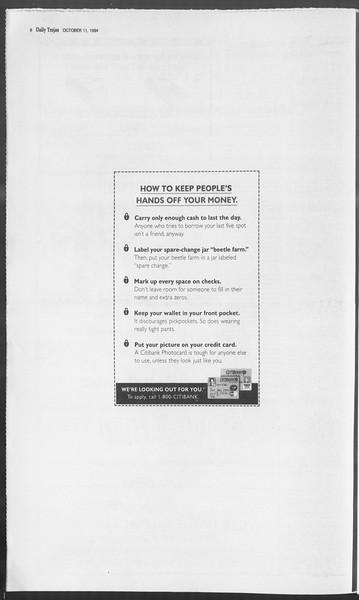 Daily Trojan, Vol. 123, No. 28, October 11, 1994