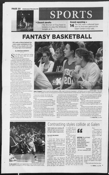 Daily Trojan, Vol. 160, No. 6, January 18, 2007