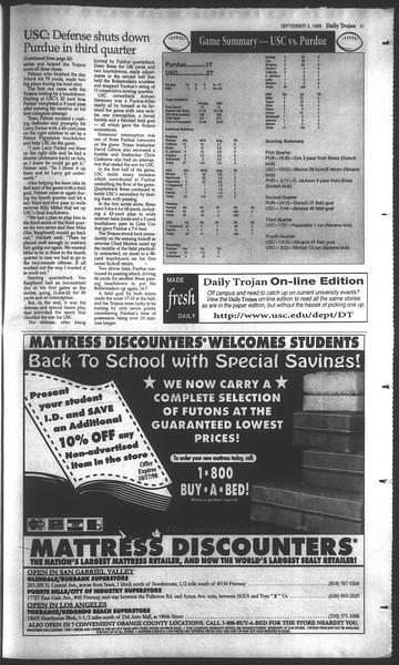 Daily Trojan, Vol. 135, No. 2, September 03, 1998
