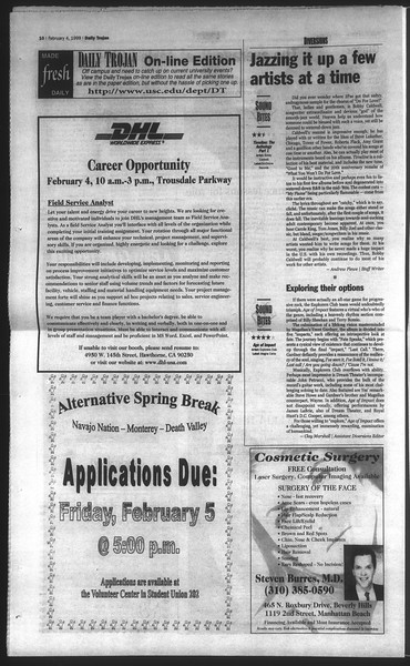Daily Trojan, Vol. 136, No. 14, February 04, 1999