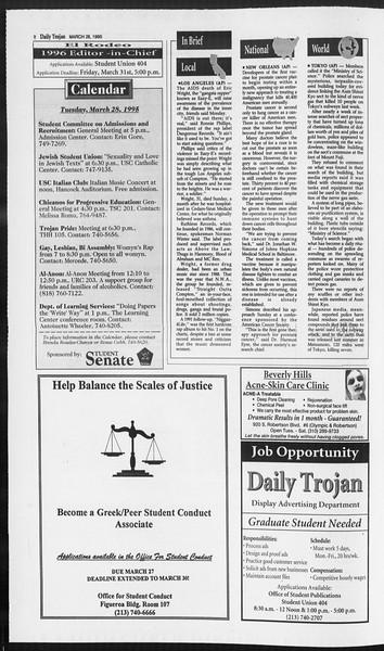 Daily Trojan, Vol. 124, No. 44, March 28, 1995