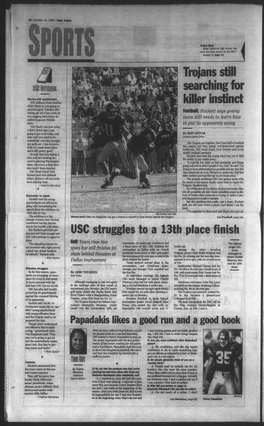 Daily Trojan, Vol. 135, No. 29, October 14, 1998