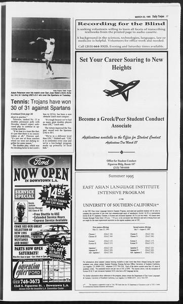 Daily Trojan, Vol. 124, No. 40, March 22, 1995