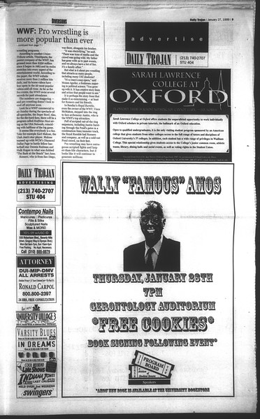 Daily Trojan, Vol. 136, No. 8, January 27, 1999