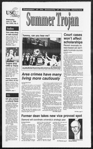 Summer Trojan, Vol. 125, No. 5, June 14, 1995