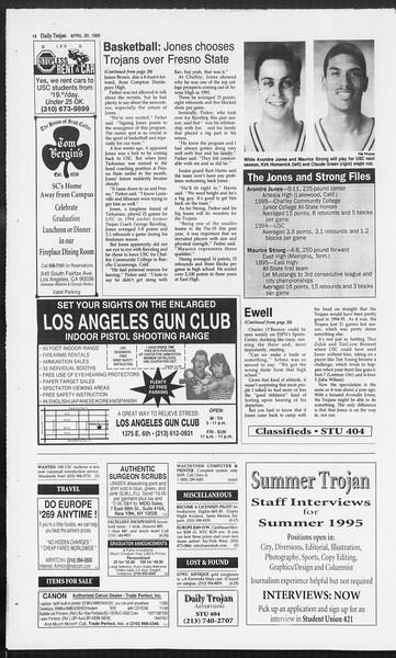 Daily Trojan, Vol. 124, No. 61, April 20, 1995