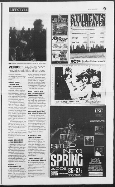 Daily Trojan, Vol. 160, No. 64, April 23, 2007