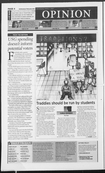 Daily Trojan, Vol. 160, No. 38, March 07, 2007