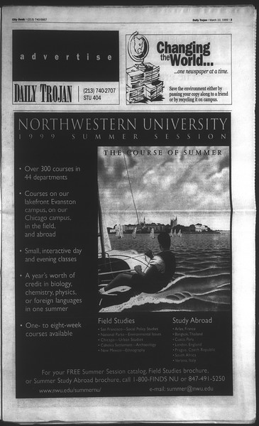 Daily Trojan, Vol. 136, No. 38, March 23, 1999