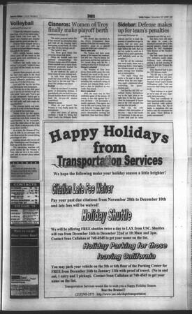 Daily Trojan, Vol. 135, No. 47, November 10, 1998