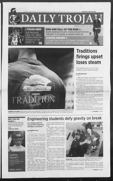 Daily Trojan, Vol. 160, No. 43, March 23, 2007
