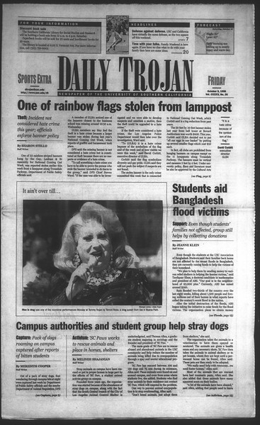 Daily Trojan, Vol. 135, No. 26, October 09, 1998