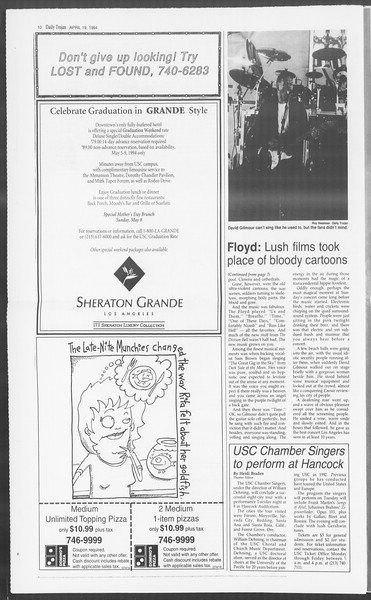 Daily Trojan, Vol. 122, No. 61, April 19, 1994