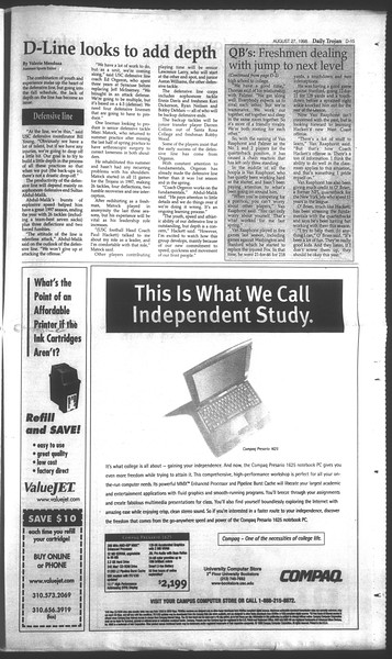 Daily Trojan, Vol. 135, No. 1, August 27, 1998