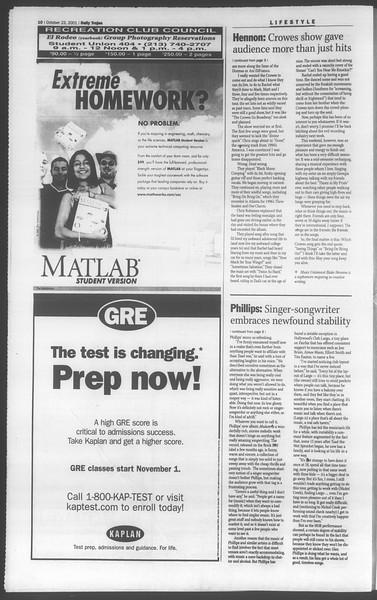 Daily Trojan, Vol. 144, No. 39, October 23, 2001