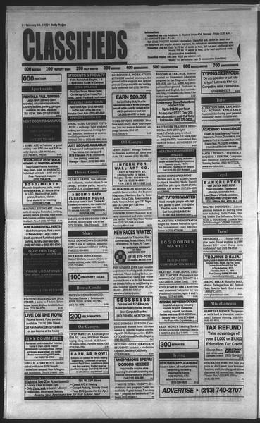 Daily Trojan, Vol. 136, No. 23, February 19, 1999