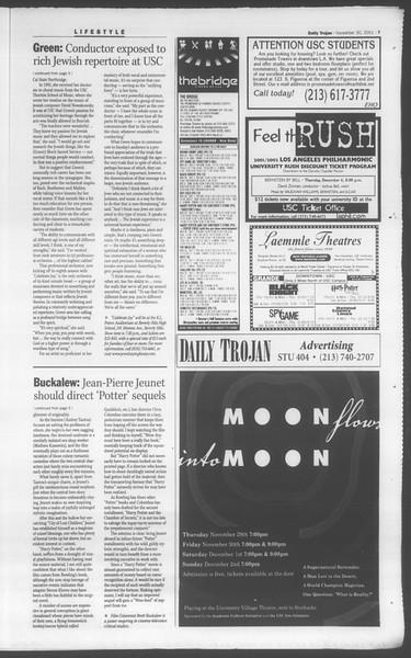 Daily Trojan, Vol. 144, No. 62, November 30, 2001