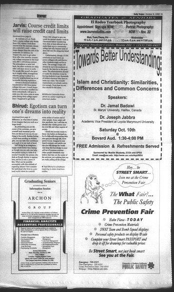 Daily Trojan, Vol. 135, No. 25, October 08, 1998