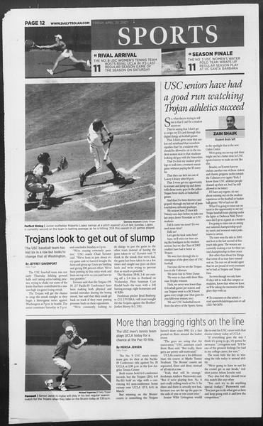 Daily Trojan, Vol. 160, No. 63, April 20, 2007