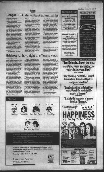 Daily Trojan, Vol. 135, No. 36, October 23, 1998