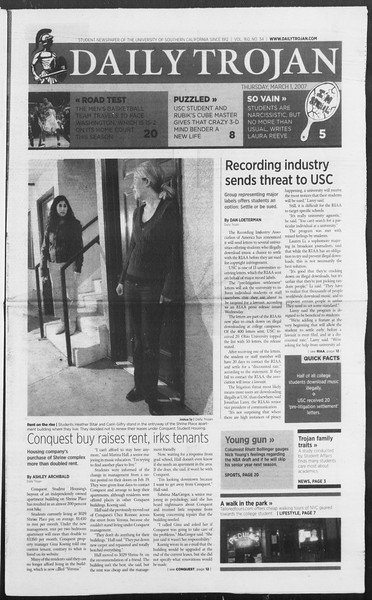 Daily Trojan, Vol. 160, No. 34, March 01, 2007