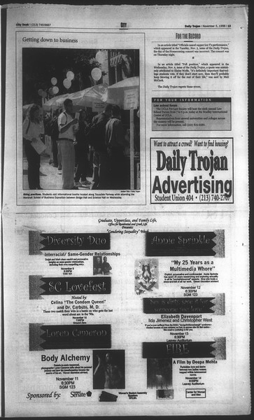 Daily Trojan, Vol. 135, No. 45, November 05, 1998