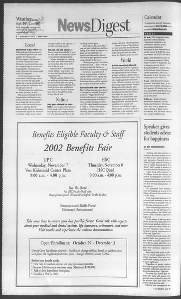 Daily Trojan, Vol. 144, No. 51, November 08, 2001