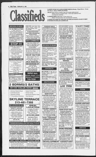 Daily Trojan, Vol. 124, No. 16, February 06, 1995