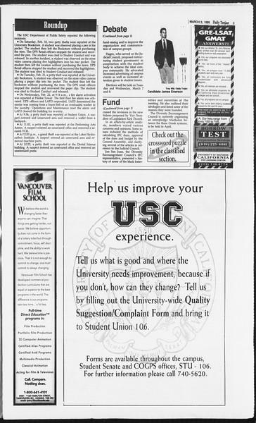Daily Trojan, Vol. 124, No. 33, March 03, 1995